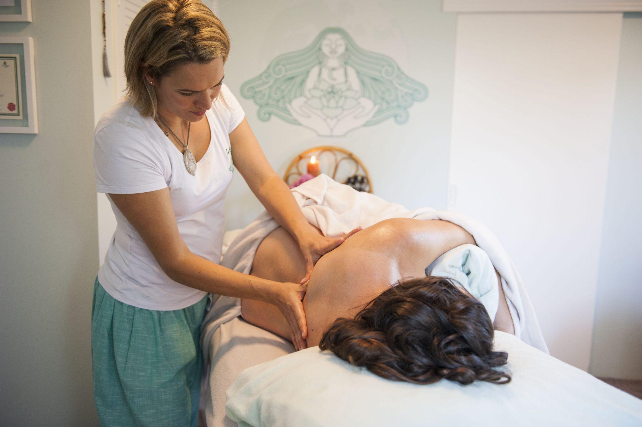 Therapeutic postpartum massage